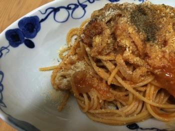 フィレンツェ気分♪トリッパのトマトソースパスタ