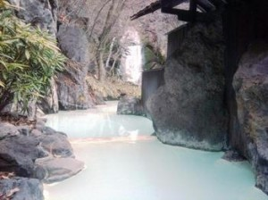 リラックス舞い散る湯の花「赤川温泉」
