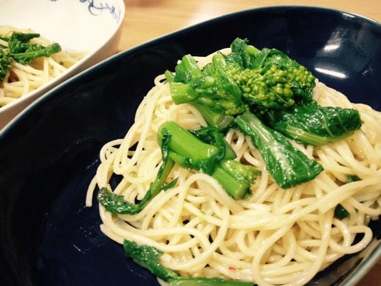 今日のレシピはかんたん菜の花のオイルソースパスタ!女性の健康に◎