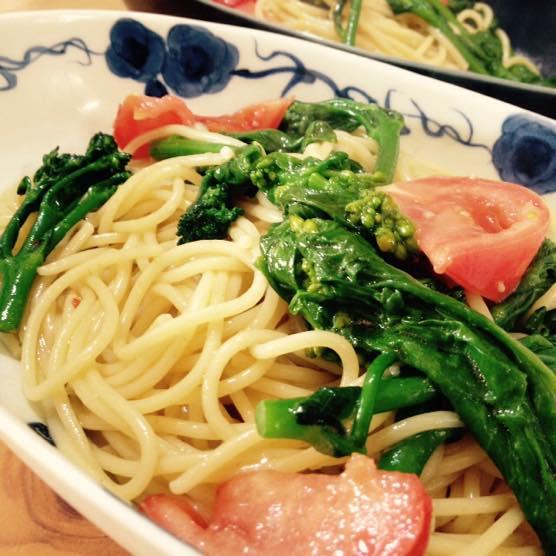 今日のパスタレシピは春野菜(スティックセニョールなど)のまぜるだけオイルソース!