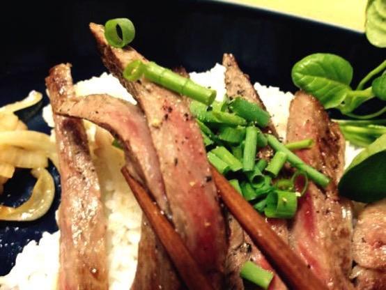 ステーキ丼 レシピIMG 8878
