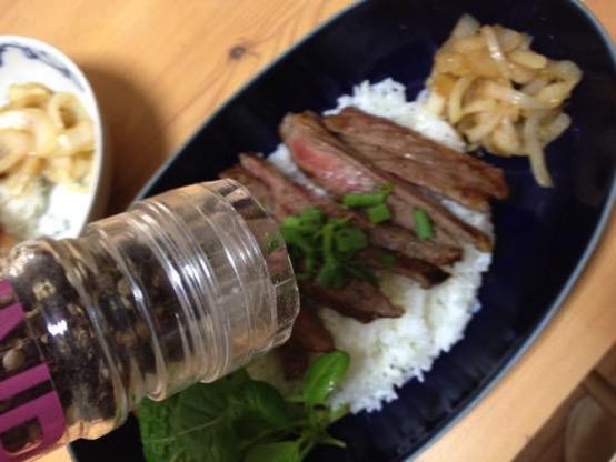 ステーキ丼 レシピIMG 8867