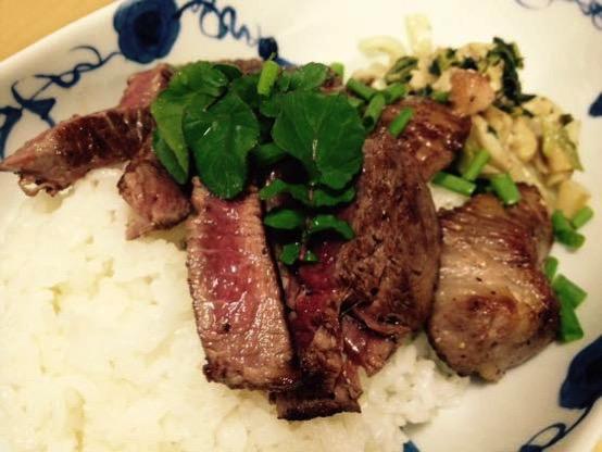 ステーキ丼 レシピIMG 6552