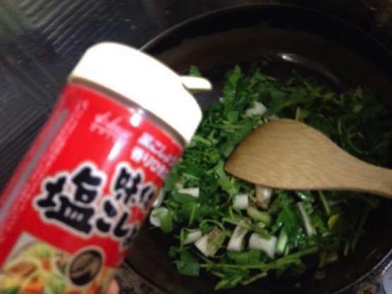 大根の葉 レシピ パスタIMG 9071