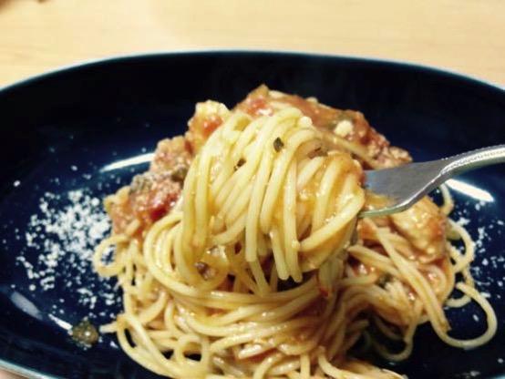 離乳食で簡単アレンジレシピ!とろけるズッキーニのトマトパスタ!