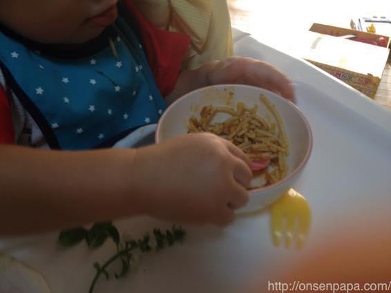 子供 パスタ レシピ ミートソース IMG 7816
