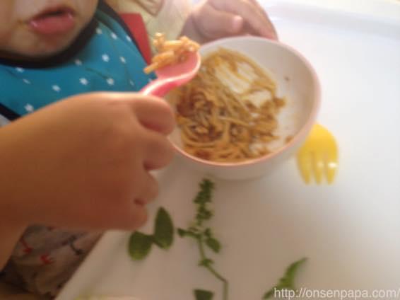 子供 パスタ レシピ ミートソース IMG 7822
