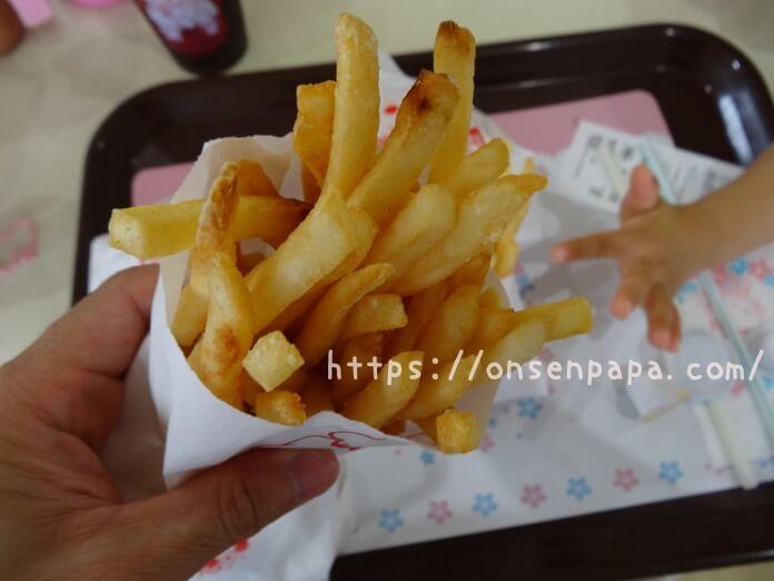 ハーモニーランド 食事 ハッピーカフェ ハンバーガー  DSC02051