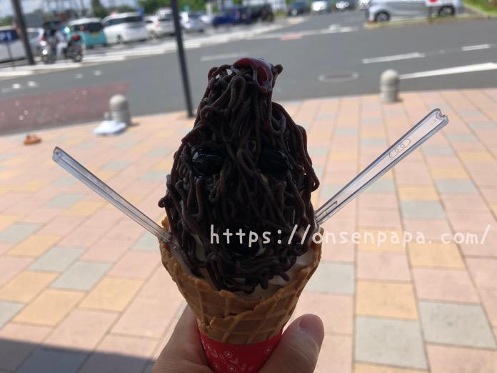 中津 道の駅なかつ 黒田官兵衛 ソフトクリーム  IMG 2356