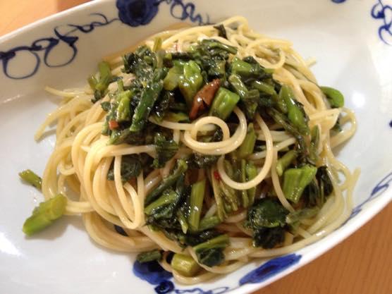 高菜パスタ レシピIMG 8324