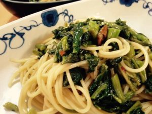 今日のパスタレシピは、かんたん基本の高菜(たかな)パスタ!