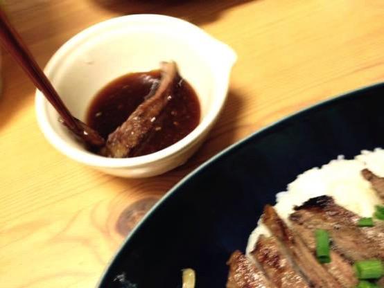 ステーキ丼 レシピIMG 8873