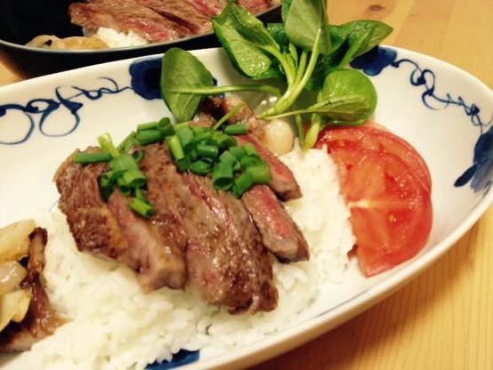 ステーキ丼 レシピIMG 8858