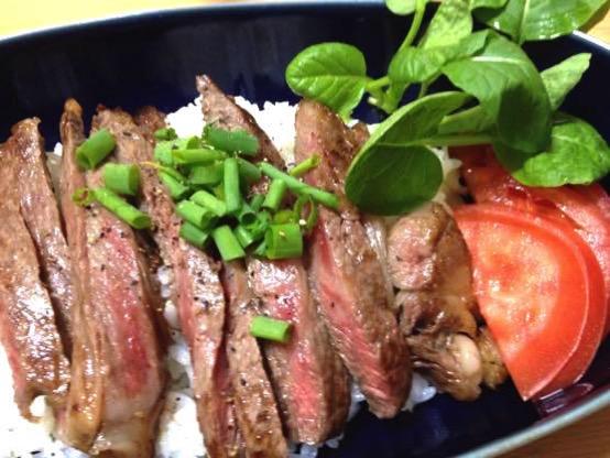 ステーキ丼 レシピIMG 8870