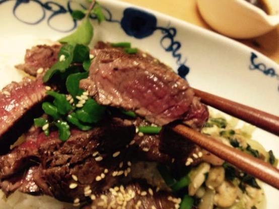 ステーキ丼 レシピIMG 6555