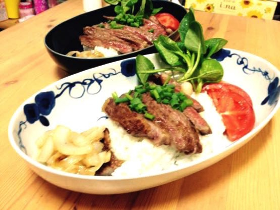ステーキ丼 レシピIMG 8856