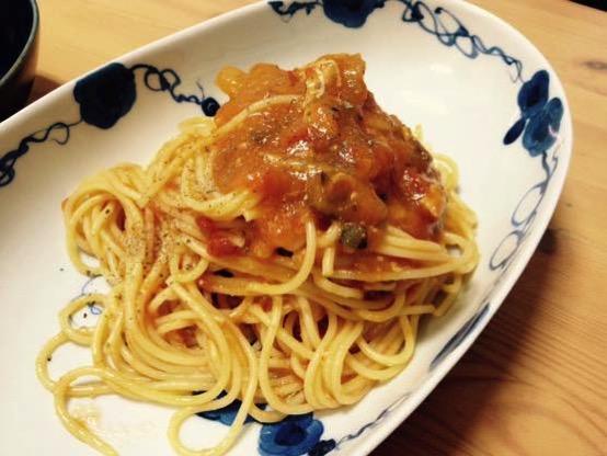 ズッキーニ パスタ レシピ IMG 2984