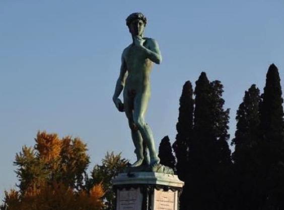 イタリア新婚旅行 フィレンツェ  歩いてミケランジェロ広場へ向かうと見える景色