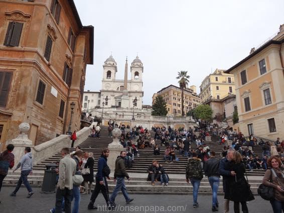 スペイン広場 ローマ 新婚旅行 01799