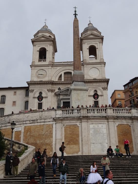 スペイン広場 ローマ 新婚旅行 01796