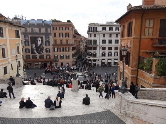 スペイン広場 ローマ 新婚旅行 01793