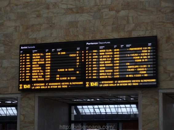 フィレンツェ ローマ 移動 DSC01699