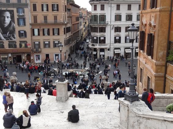 スペイン広場 ローマ 新婚旅行 01797