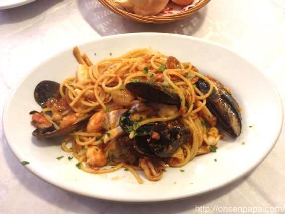 イタリア新婚旅行での食事 パスタ