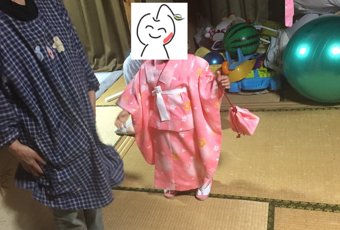 七五三 3歳 女の子 着物 レンタルIMG 3662