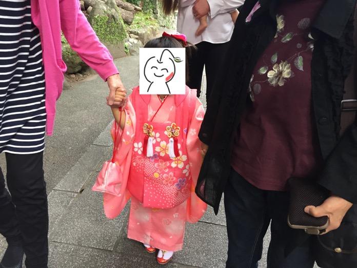 七五三 3歳 女の子 着物 レンタルIMG 3749