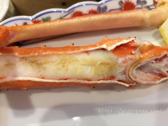 杉乃井ホテル シーダパレス  バイキング 蟹 ブログ  IMG 5888