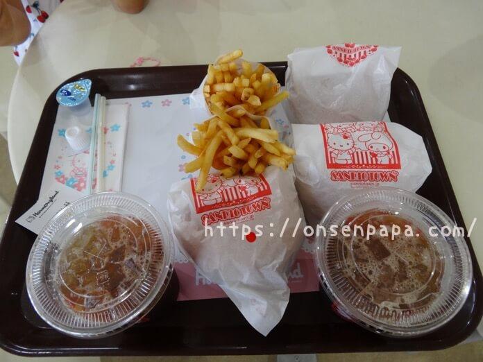 ハーモニーランド 食事 ハッピーカフェ ハンバーガー  DSC02046