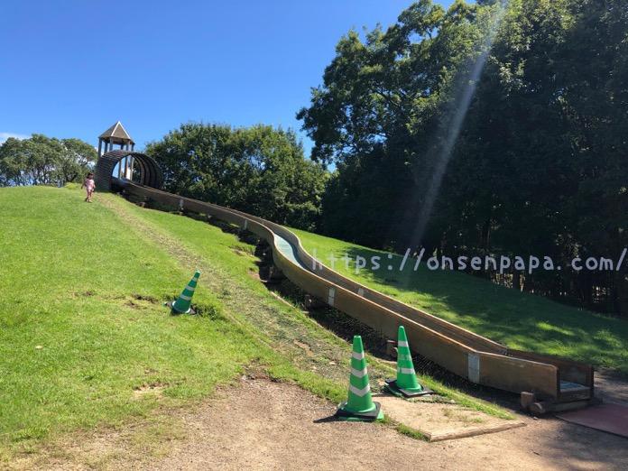 七瀬川自然公園 すべり台 3歳 ローラースライダー  IMG 5115
