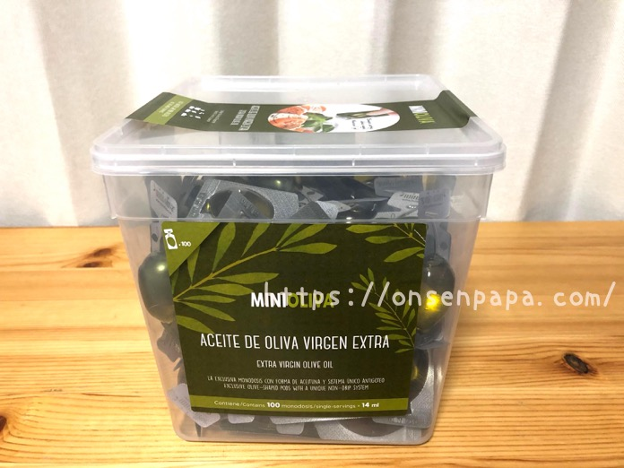 コストコ オリーブオイル MINI OLIVA  IMG 3905