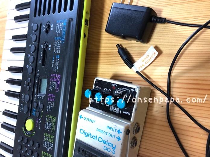 カシオ SA 46 アンプ ケーブル IMG 3822